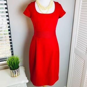 Banana Republic Red Wool cap sleeve Dress